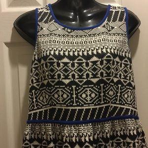 Xhilaration Black & White Mini Dress Size M